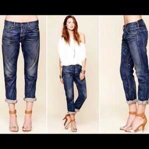 NSF Jeans Straight Slouch Distressed 28 MSRP $245